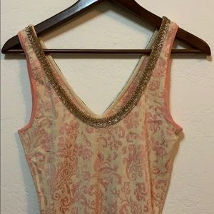 Free People Dresses - Free People Gold Sequin Pink Dress